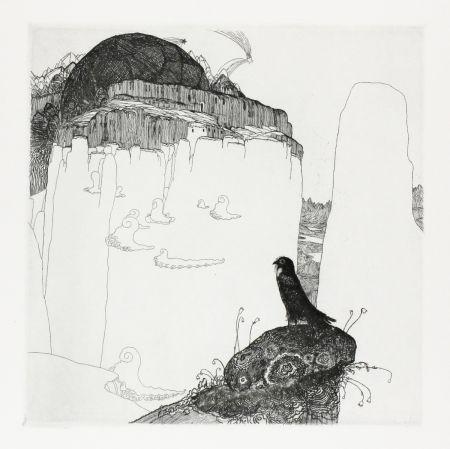 Gravure Hablik - Turmfalke (Kestrel)