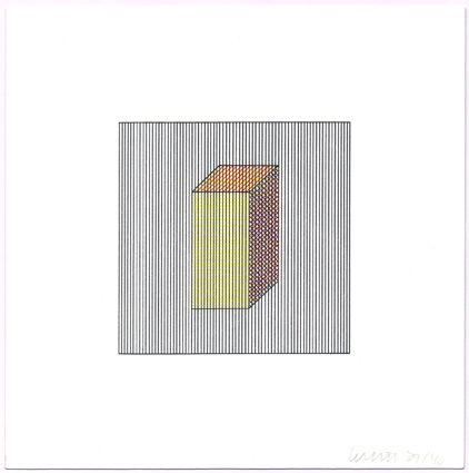 Sérigraphie Lewitt - Twelve Forms Derived from a Cube (Set of 48) (2)