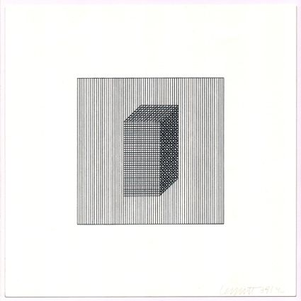 Sérigraphie Lewitt - Twelve Forms Derived from a Cube (Set of 48) (3)