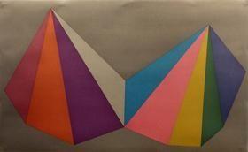 Sérigraphie Lewitt - Two Asymmetrical Pyramids