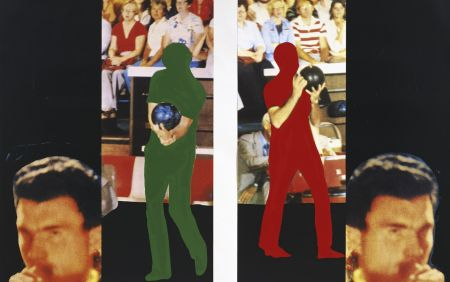 Lithographie Baldessari - Two bowlers (with questioning person)