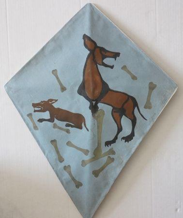Sérigraphie Toledo - Two dog kite I