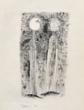 Lithographie Toledo - Two Figures