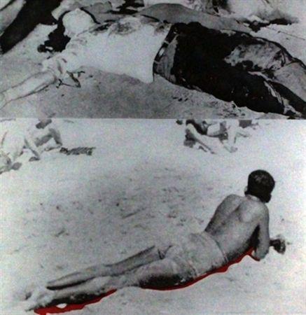 Aquatinte Baldessari - Two Figures (One with Shadow), from The Hegel's Cellar portfolio