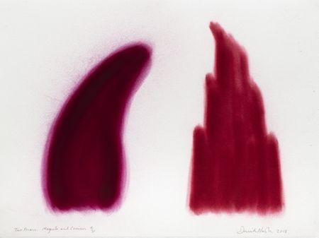Pochoir Nash - Two Forms, Magenta and Crimson