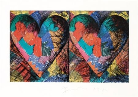 Lithographie Dine - Two Louisiana Hearts
