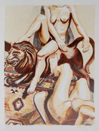 Lithographie Pearlstein - Two Nude Women