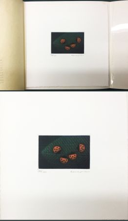 Manière Noire Hamaguchi - Two Pairs (Ladybirds). signed. with the original book (1976)