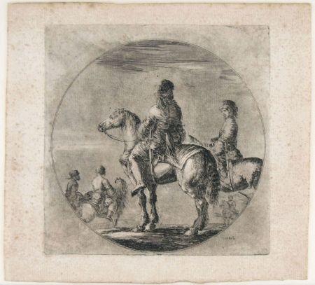 Gravure Della Bella - TWO POLISH HORSEMEN