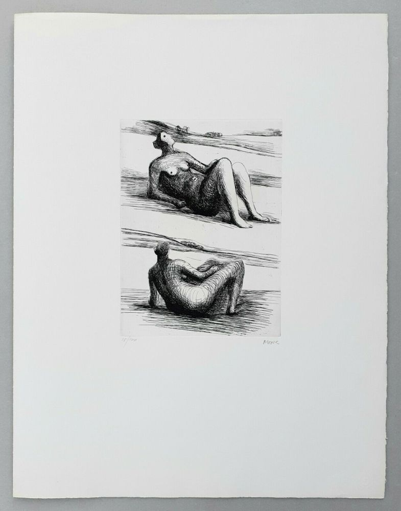 Gravure Moore - Two reclining figures