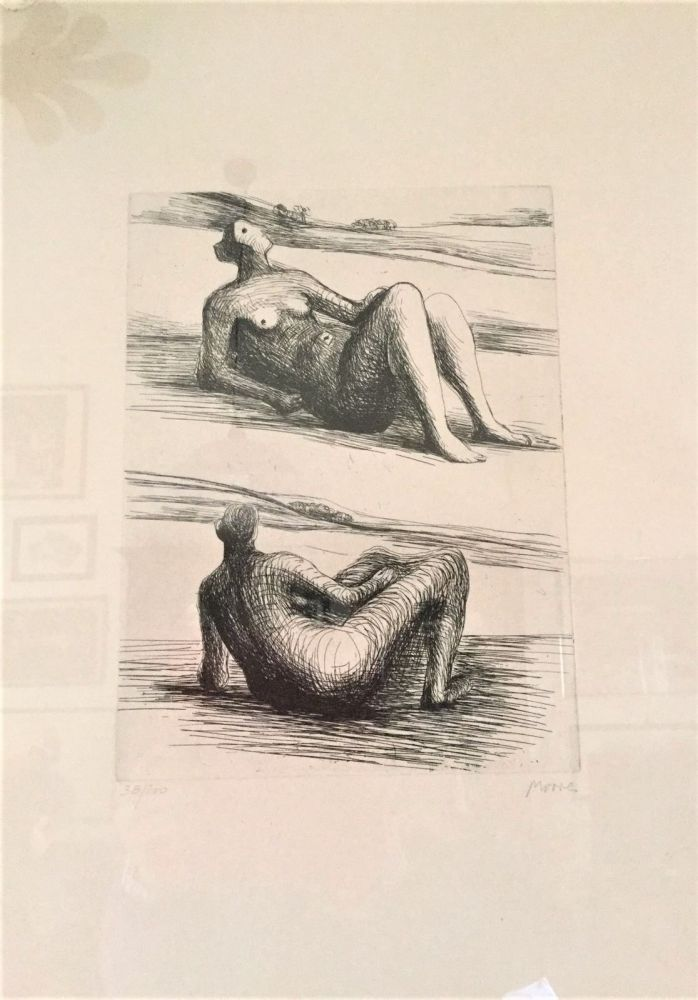 Eau-Forte Moore - Two reclining figures