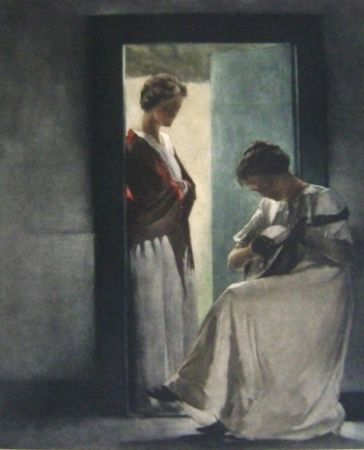 Manière Noire Ilsted - Two Young Women In A Doorway