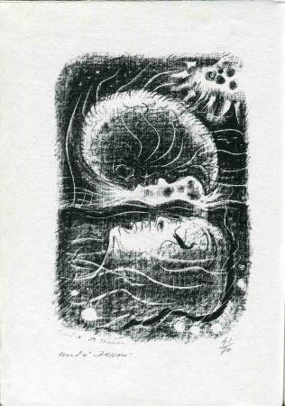 Lithographie Masson - TZARA (Tristan). Terre sur terre.