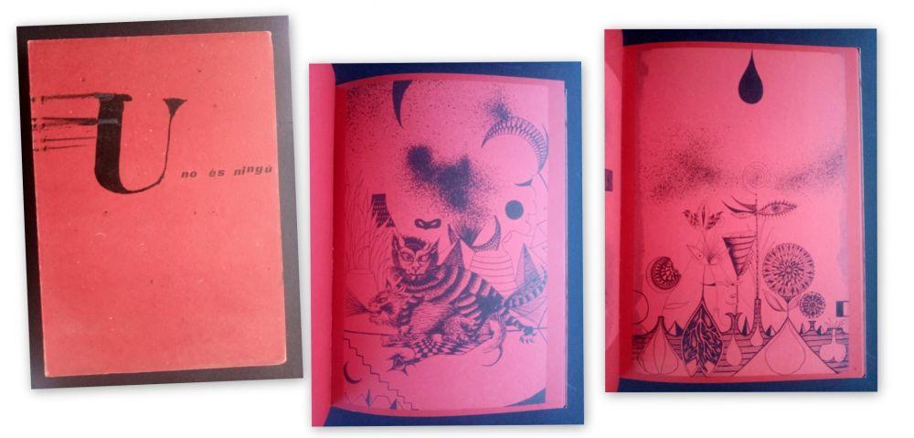 Livre Illustré Tàpies - U no es Ningú - Brossa -Tàpies