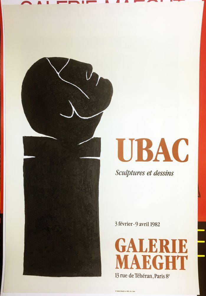 Affiche Ubac - UBAC 82. Sculptures et dessins.