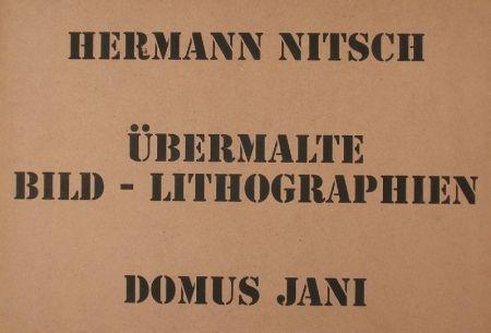 Lithographie Nitsch - UBERMALTE  BILD