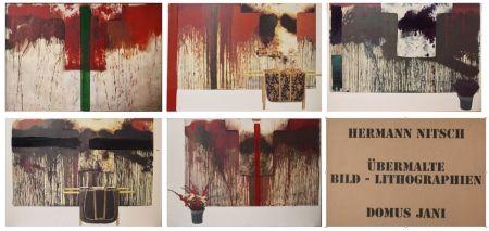 Lithographie Nitsch - Ubermalte Bild - Lithographien, Domus Jani
