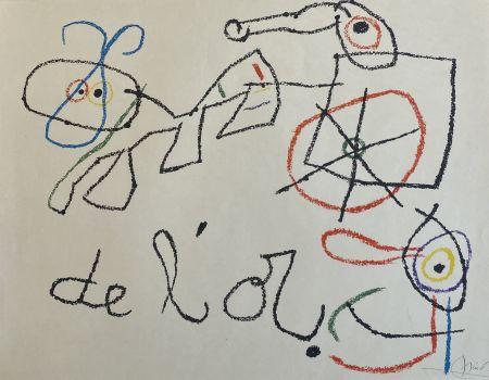 Lithographie Miró - Ubu aux Baleares I