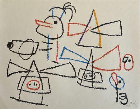Lithographie Miró - Ubu aux Baleares II