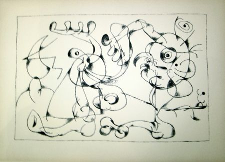 Lithographie Miró - Ubu Roi (1st state in Black and White)