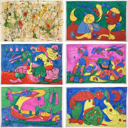 Livre Illustré Miró - UBU ROI (A. Jarry) Lithographies originales en couleurs (1966).