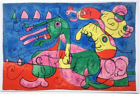 Lithographie Miró - UBU ROI : CHEZ LE TZAR (1966).