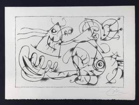 Lithographie Miró - Ubu Roi (King Ubu ) from 'Suites por Ubu Roi'