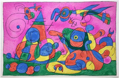 Lithographie Miró - UBU ROI : LA MERE UBU ET LE TZAR (1966).