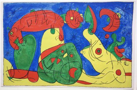 Lithographie Miró - UBU ROI : LA NUIT L'HEURE (1966).
