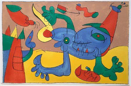 Lithographie Miró - UBU ROI : LE MASSACRE DU ROI DE POLOGNE (1966).