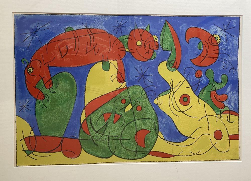 Lithographie Miró - UBU Roi (plate 11)