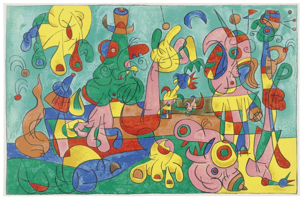 Livre Illustré Miró - Ubu Roi (with 13 color lithographs by Joan Miró)