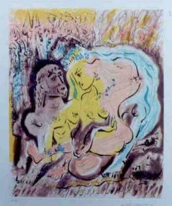 Eau-Forte Et Aquatinte Masson - Ulysses et Circe's