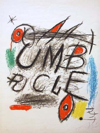 Lithographie Miró - Umbracle