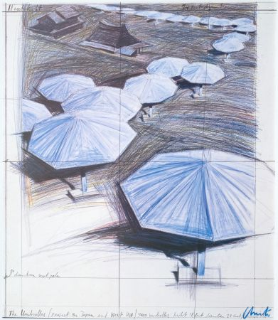 Offset Christo - Umbrellas Blue I I I