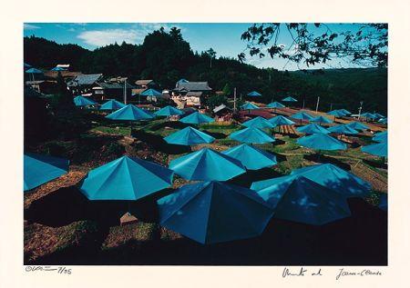 Photographie Christo - Umbrellas Jinba Blue