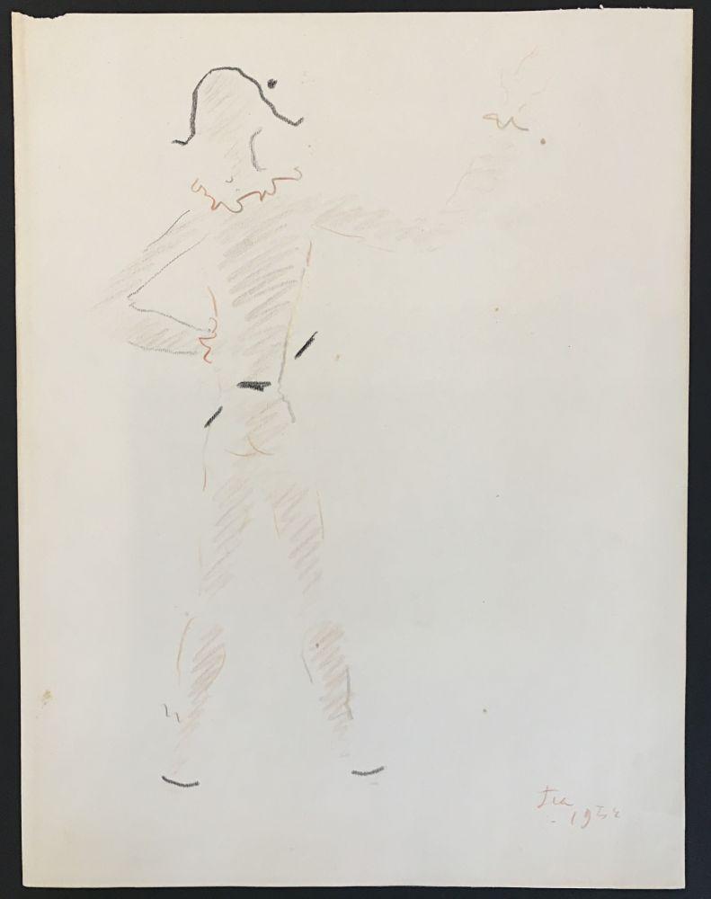 Aucune Technique Cocteau - Un arlequin vu de dos (A harlequin seen from the back)