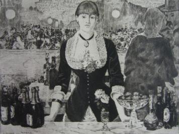 Gravure Guerard - Un bar aux Folies-Bergère