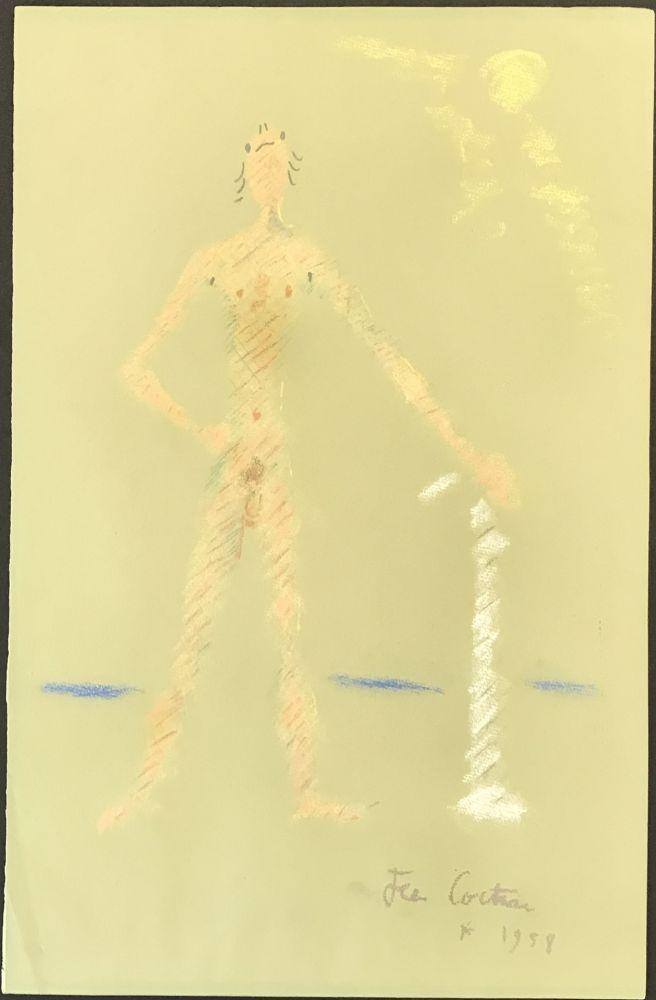 Aucune Technique Cocteau - Un Personnage Debout et Nu (A Nude Standing Figure)