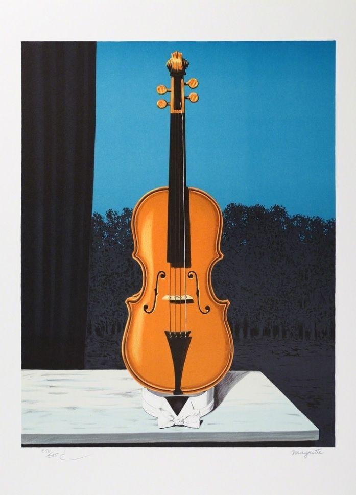 Lithographie Magritte - Un peu de l'âme des bandits