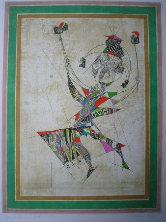 Eau-Forte Et Aquatinte Finsterer - Un Spectacle