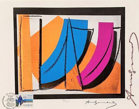 Lithographie Warhol - UN Stamp