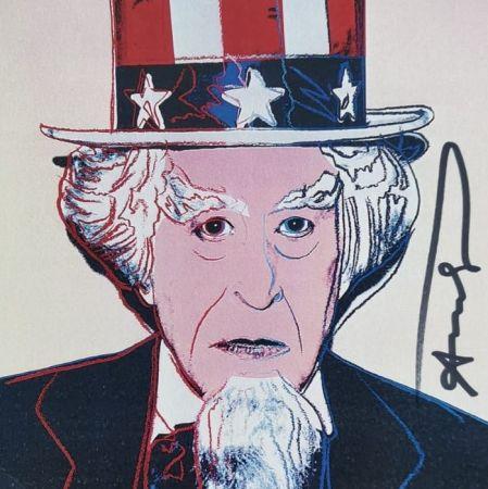 Sérigraphie Warhol - Uncle Sam