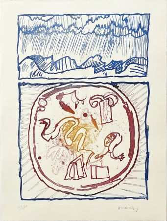 Gravure Alechinsky - Underground