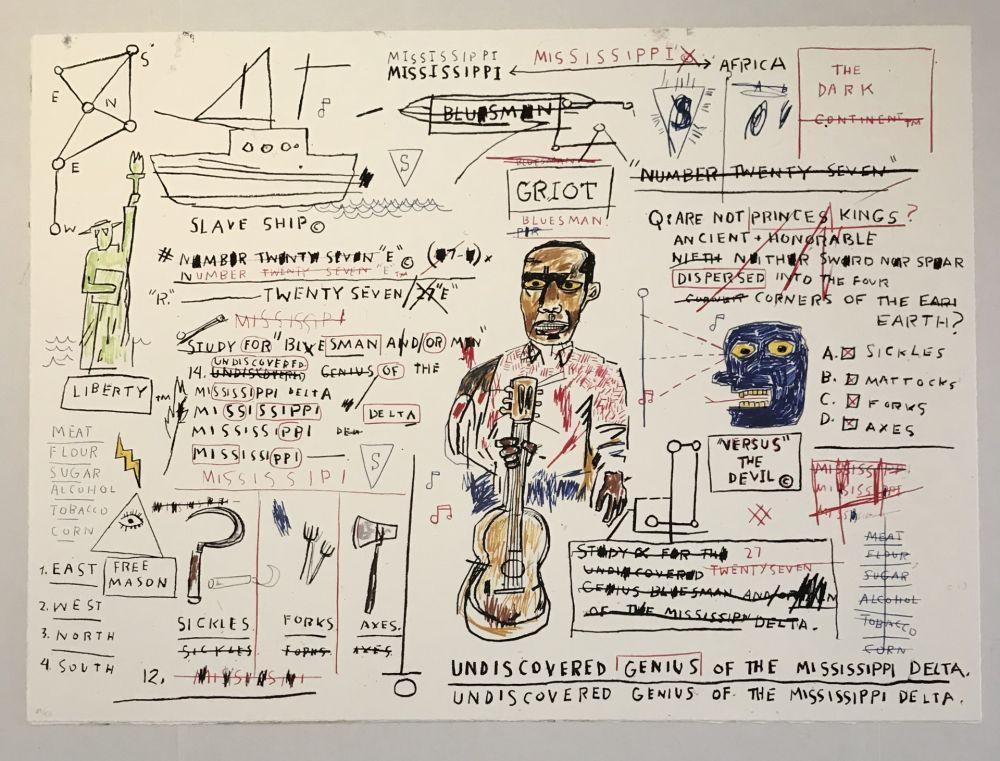 Sérigraphie Basquiat - Undiscovered Genius