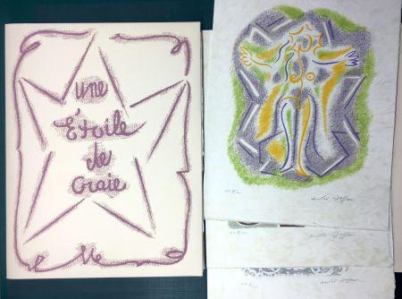 Livre Illustré Masson - UNE ÉTOILE DE CRAIE. Seize ithographies originales signées d'André Masson