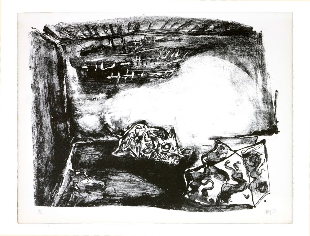 Lithographie Grinberg - Une autre possibilité (en fumée)