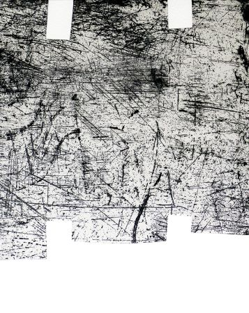 Gravure Chillida - Une helene de vent ou fumee I