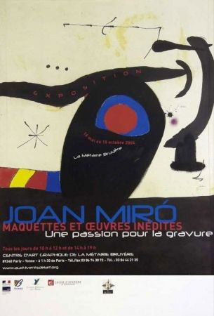 Affiche Miró - Une passion pour la gravure