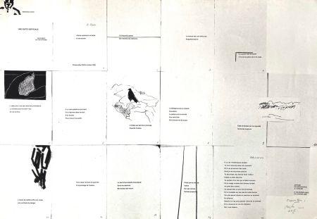 Sérigraphie Buraglio - Une suite verticale